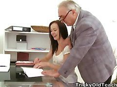 This indecent old teacher is in an amazing position of vigour over his student as that babe asks for a second chance on her test. That Guy'll get to fuck her in advance of this chab gives way to her request!
