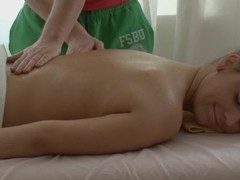 Lass is very aroused after massage and gets wild fucking